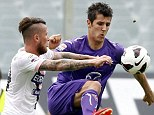 Most wanted: Arsenal are desperate to land Fiorentina striker Stefan Jovetic (right)