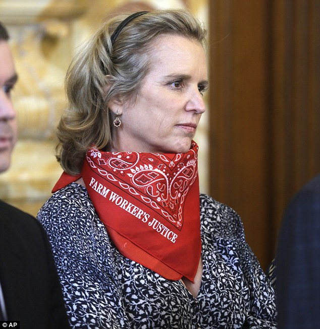 Request denied: A town judge refused to dismiss a drugged-driving case against Kerry Kennedy (pictured) stemming from a July collision involving her Lexus and a tractor-trailer