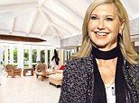 Spacious living: Olivia Newton-John has put her Florida home that includes a large living room that opens onto a garden for sale with a $6.2million asking price