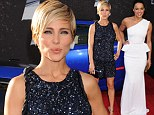 The long and short of it! Elsa Pataky glitters in a leg-baring playsuit at Fast and Furious 6 premiere... while Michelle Rodriguez picks a peplum gown
