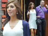 Suddenly conservative! Farrah Abraham covers up in an angelic white dress with a mystery man at her side