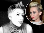 Inner punk: Isabella Cruise, daughter of Tom Cruise and Nicole Kidman, appears to have copied the hairstyle of Miley Cyrus and her latest punk 'do