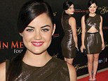 Shining bright! Pretty Little Liars' Lucy Hale flashes her taut tummy in metallic dress as she is awarded Rising Star gong at Gracies