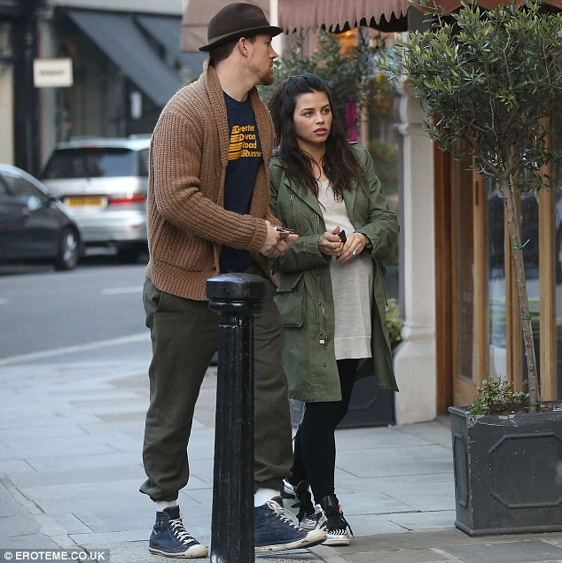 Temporary home: The couple have relocated to London while Channing shoots his latest movie Jupiter Ascending, and will welcome their first child together in the world in the capital