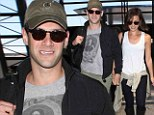 And they're off! Just days after announcing their engagement Justin Bartha and fiancée Lia Smith head out of town