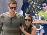 Getting back into the swing of things: Lea Michele and a healthier looking Cory Montieth grab a bite together as he adjust back into LA life