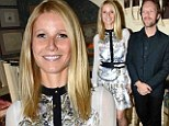 Gwyneth Paltrow combines floral and bondage chic at her summer Goop party... and still won't be pictured with husband Chris Martin despite his attendance