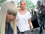 Silver screen star: Nicki Minaj was seen on set of The Other Woman in New York City on Tuesday