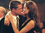 Steamy: Brad and Angelina fell in love on the set of Mr and Mrs Smith in 2004 as his marriage to Jennifer Aniston crumbled