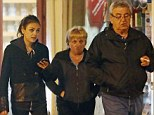 Family time: Mila Kunis enjoyed an evening out with her mother Elvira and father Mark as they headed to dinner in Hampstead on Monday night