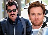 Ewan, is that you? Ginger-haired McGregor is unrecognisable as he debuts new jet black hair and matching mustache after a day at the salon