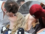 Just like the movies! Andrew Garfield recreates on-screen smooch as he gives Emma Stone a lingering kiss at charity event