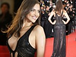 Not much left to the imagination! Irina Shayk narrowly avoids wardrobe malfunction in plunging sheer dress at All Is Lost premiere in Cannes