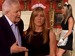 Ooh la la! Jennifer Aniston dresses as a sexy French maid for special soap opera spoof and is joined by her father John
