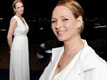 Uma Thurman was spotted at the Robert Redford All is Lost after party in Cannes, France on Wednesday