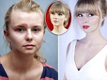 Battered and bruised: Taylor Swift lookalike Xenna Kristian claims she has been kicked in the face by a class mate jealous at her star looks