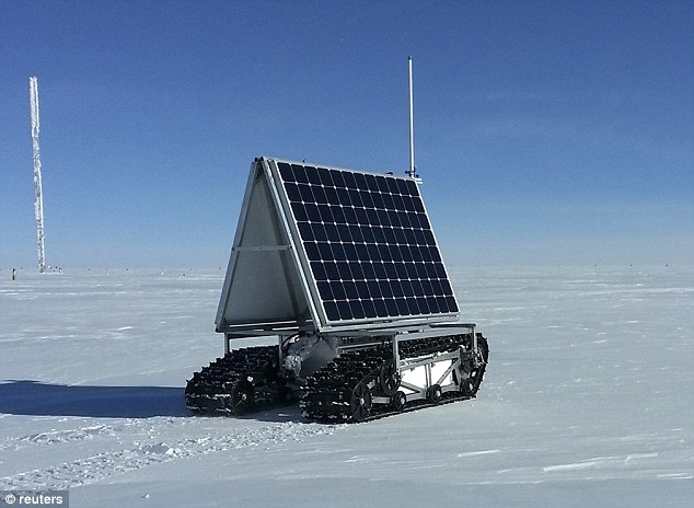 Explorer: NASA's new Earth-bound rover, GROVER, which stands for both Greenland Rover and Goddard Remotely Operated Vehicle for Exploration and Research, in Summit Camp, the highest spot in Greenland