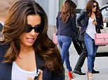 What wardrobe malfunction? Eva Longoria turns heads... this time in super skinny jeans as she visits her agent after her risque turn on the Riviera