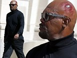 That looks painful! Samuel L Jackson sports bloody bump on set of Captain America: The Winter Soldier