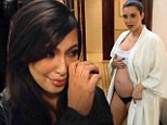 Kim Kardashian cries and shows off her baby bump in the new Keeping Up With The Kardashians trailer
