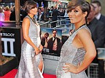 Bump's first red carpet: Frankie Sandford shows off her pregnant shape as she joins band mates at Hangover 3 premiere