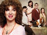 Bridesmaids star Maya Rudolph poses for a hilarious collection of cringe-inducing Awkward Family Photos with comedian Danny McBride - and poor Basset Hound!