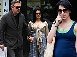 Alec Baldwin and pregnant wife Hilaria Thomas