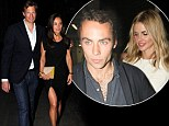 Pippa Middleton steps up the glamour in a leggy black dress as she parties with brother James's new girlfriend Donna Air