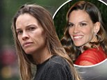 Hilary Swank seen leaving a spa in Tribeca, New York City, USA