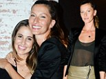 Sibling love! Gisele Bündchen snuggles up to younger sister Gabriela at private party in New York