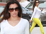 She's learned some lessons! Eva Longoria walks on wild side in yellow jeans as she receives Master's degree in Chicano Studies