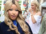 Ready to make friends? Nicki Minaj sports Rapunzel curls on movie set as she flatters her 'flawless' co-star Cameron Diaz