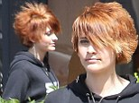 Punk rock! Paris Jackson debuts her orange spiky cropped cut as she continues to experiment with her style