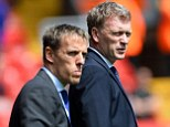 Promotion from within: Phil Neville is one of the candidates to take over from Moyes