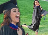 So that's what she's been up to all this time! Eva Longoria proves she's not just a pretty face as she graduates with Master's degree