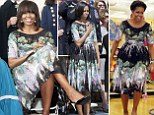 First Lady recycles favorite Tracy Feith dress