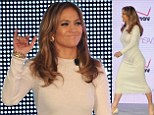 White hot! Jennifer Lopez puts her curves on display as she launched her own cell phone company