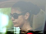 Getting back to normality: Catherine Zeta-Jones was seen returning home after the school run on Wednesday, a day after leaving rehab following treatment for his bipolar disorder