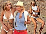 Yolanda Foster and daughter GiGi on bikini shoot