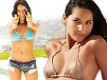Hands up if you're sexy! Bikini-clad Olivia Munn's armed with a water pistol as she pours cold water over claims that 'people who are attractive can't be funny'