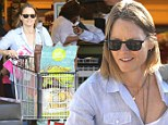 Stocking up for the weekend! A cheerful Jodie Foster shops for healthy goods at Whole Foods