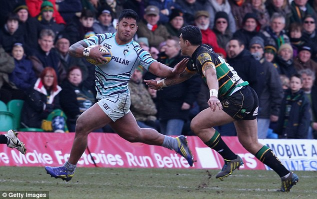 Battle: Leicester beat the Saints 36-8 at Franklin's Gardens in March