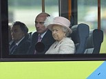The Royal couple travelled the short distance from Cambridge station by single decker bus, although they were seated apart