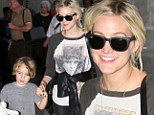 Mother and son jetsetters! Ashlee Simpson and son Bronx return to Los Angeles after just a two day trip to NYC