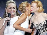 She looks a million dollars! Stunning Sharon Stone outshines Nicole Kidman at money-spinning Cannes charity event