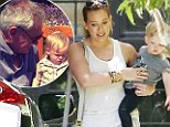 Hilary Duff takes son Luca to a playdate with Jack Osbourne Lisa Stelly's daughter Pearl