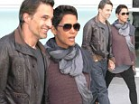 Just the two of us! Halle Berry and Olivier Martinez sneak away for a romantic date at the movie theatre