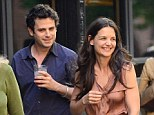 More than good friends? Katie Holmes is rumoured to have grown close to her Mania Days co star Luke Kirby