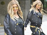 You can't stop rock and roll! Fergie refuses to let pregnancy tame her style donning tight leather leggings