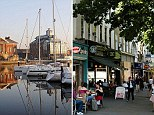 Suffolk (left), where savers have accumulated the largest nest eggs, and Islington (right) where savers have the smallest sums put away